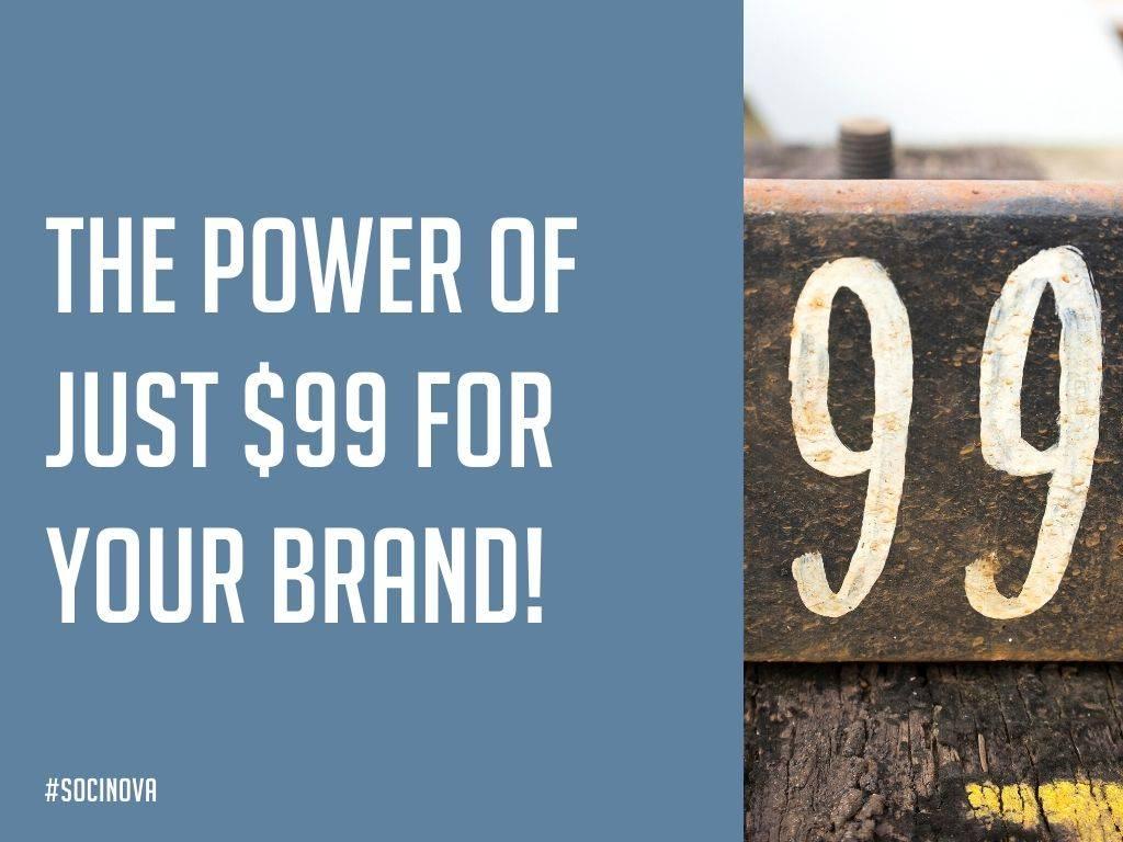 99 Dollars Social Media Marketing by Socinova